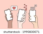 dating in internet and online... | Shutterstock .eps vector #1990830071