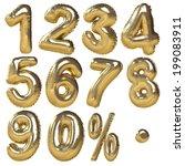 balloons of numbers  ... | Shutterstock . vector #199083911