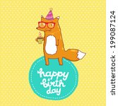 happy birthday card background... | Shutterstock .eps vector #199087124