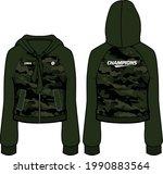 women long sleeve  hoodie... | Shutterstock .eps vector #1990883564