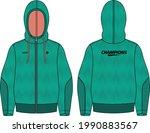 women long sleeve  hoodie... | Shutterstock .eps vector #1990883567