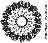 decorative circle created by... | Shutterstock .eps vector #1990889081