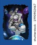 cool bjj jiu jitsu galaxy...   Shutterstock .eps vector #1990902467
