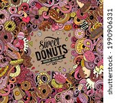 donuts hand drawn vector...   Shutterstock .eps vector #1990906331