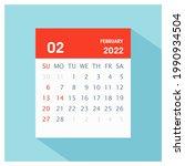 february 2022   calendar icon   ... | Shutterstock .eps vector #1990934504