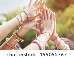 close up of female hands | Shutterstock . vector #199095767