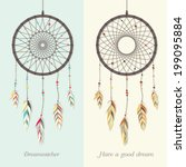 Beautiful Dream Catcher Vector