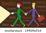coaching and mentoring. coach... | Shutterstock .eps vector #199096514