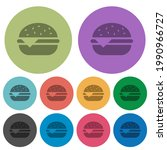 single cheeseburger darker flat ... | Shutterstock .eps vector #1990966727