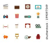 movie icons vector eps10   Shutterstock .eps vector #199097549
