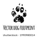 Vector Dog Grunge Footprint...