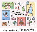 people on vacation and vacation ... | Shutterstock .eps vector #1991008871