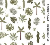 safari background with leaf... | Shutterstock .eps vector #1991058011