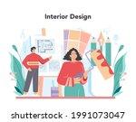 interior designer concept.... | Shutterstock .eps vector #1991073047