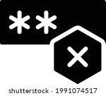 password vector glyph flat icon   Shutterstock .eps vector #1991074517