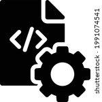 script vector glyph flat icon   Shutterstock .eps vector #1991074541
