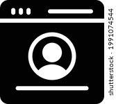 profile vector glyph flat icon   Shutterstock .eps vector #1991074544