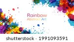 colorful artistic banner with... | Shutterstock .eps vector #1991093591