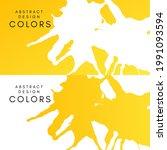 yellow artistic horizontal... | Shutterstock .eps vector #1991093594