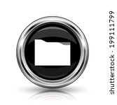 folder icon. metallic internet... | Shutterstock . vector #199111799
