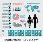 healthcare medical infographic   Shutterstock .eps vector #199115594