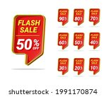 flash sale discount tag... | Shutterstock .eps vector #1991170874