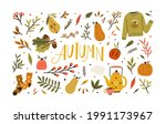 autumn bundle of cute and cozy...   Shutterstock .eps vector #1991173967