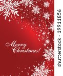 christmas card with copy space  ... | Shutterstock .eps vector #19911856
