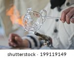 glass working hands while... | Shutterstock . vector #199119149