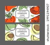 tomato avocado labels design of ...   Shutterstock .eps vector #1991194907