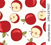 seamless pattern with apple on...   Shutterstock .eps vector #1991197937