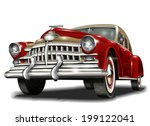 retro car. | Shutterstock .eps vector #199122041