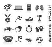 soccer icon set. | Shutterstock .eps vector #199123319
