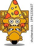 pizza triangle  mascot...   Shutterstock .eps vector #1991233637
