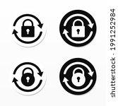 reset password sign. padlock... | Shutterstock .eps vector #1991252984
