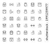 modern thin line icons set of...   Shutterstock .eps vector #1991259977