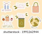 zero waste stickers....   Shutterstock .eps vector #1991262944