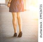 beautiful  women's legs in... | Shutterstock . vector #199126721