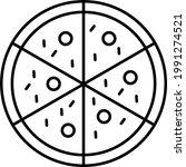 pizza line icon vector...   Shutterstock .eps vector #1991274521