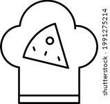 cooking pizza  pizzeria line...   Shutterstock .eps vector #1991275214