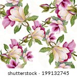 colorful floral seamless... | Shutterstock .eps vector #199132745