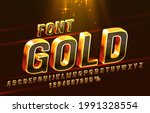 gold font set collection ... | Shutterstock .eps vector #1991328554