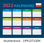 2022 calendar   vector template ... | Shutterstock .eps vector #1991371304