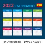 2022 calendar   vector template ... | Shutterstock .eps vector #1991371397