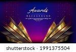 blue pink golden shimmer awards ... | Shutterstock .eps vector #1991375504