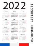 calendar 2022   illustration.... | Shutterstock .eps vector #1991383751