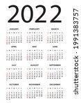 calendar 2022   illustration.... | Shutterstock .eps vector #1991383757