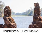 Angkor Thom Is A Famous Bridge...