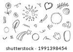 hand drawn set elements  black... | Shutterstock .eps vector #1991398454