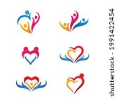 hand care icon template vector... | Shutterstock .eps vector #1991422454
